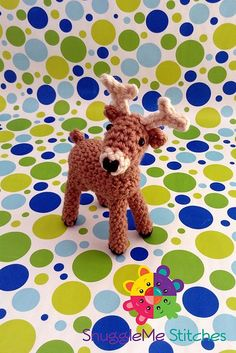 "Sherman the Deer - Free Amigurumi Pattern - PDF File - Click ""download"" or ""free Ravelry download"" here: http://www.ravelry.com/patterns/library/sherman-the-deer"