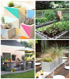 Cinderblock projects for the outdoors