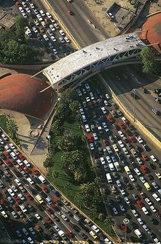 Port of Entry, Baja California Norte, CA (1997) | Saturday morning border traffic flowing from Tijuana, Mexico to San Diego, CA, USA