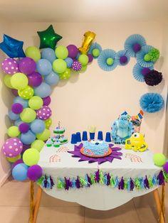 Baby Shower Boy Theme Monsters Inc 47 Ideas Monster University Birthday, Monster 1st Birthdays, Monster Birthday Parties, First Birthdays, Monsters Inc Baby Shower, Monsters Inc Boo, Monster Baby Showers, Monster Party, 2nd Birthday Party For Girl