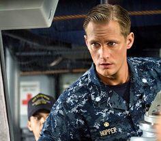 Alexander Skarsgard as Commander Stone Hopper in Battleship