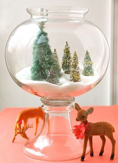 For the love of Home & Parties: Christmas Terrarium - mint