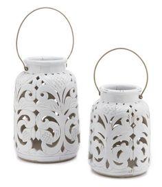 Southern Living Glazed Terracotta Lantern #Dillards