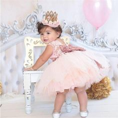 08aa2c4b996c Princess Girl Wear Sleeveless Bow Dress For 1 Year Birthday Party Toddler  Costume Summer Events Occasion Vestidos Infant Trending