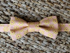 Boys Bow Tie  Cool Pink and Gold Star Geometric by becauseimme, $14.00