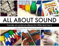 NGSS asks that students conduct experiments to explain that vibrations make sounds and sound can make materials vibrate. 5 awesome hands-on ideas for exploring sound and vibrations! 1st Grade Science, Primary Science, Kindergarten Science, Elementary Science, Physical Science, Science Classroom, Teaching Science, Science For Kids, Elementary Schools