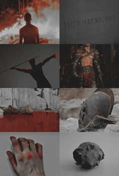 "Ares 1/2:  ""you bleed so much everything tastes like blood to you, the world never tasted of something else"""