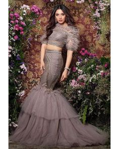Designer Dresses at sale prices Lehenga Designs, Indian Wedding Outfits, Indian Outfits, Indian Designer Outfits, Designer Dresses, Indian Gowns Dresses, Lace Dresses, Evening Dresses, Girls Dresses