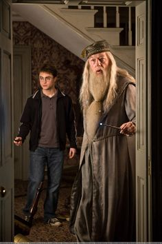 daniel jacob radcliffe (harry james potter) / richard st john harris (albus percival wulfric brian dumbledore)