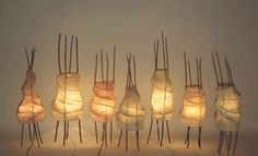 Long Thin Tissue Paper Lights.