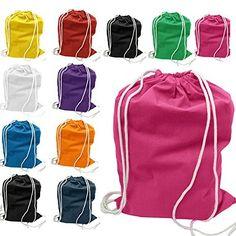 (12 Pack) 1 Dozen - Economical Cotton Sport Drawstring Bags Cinch Packs by ToteBagFactory, http://www.amazon.com/dp/B00PS2B6JO/ref=cm_sw_r_pi_awdm_cZeqvb15KHEAF