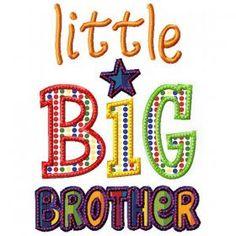 Little Big Brother Applique