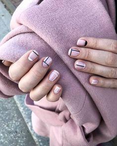 Image about nail art in nails💅 by ✿❀adelya❀✿ on We Heart It Minimalist Nails, Essie Nail Polish Colors, Nail Colors, Nagel Hacks, Geometric Nail, Nail Art, Neutral Nails, Short Nail Designs, Nagel Gel