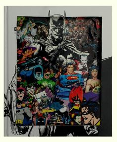 Batman Comic Book Sculpture