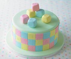 ABC Torte. #Tortendekorieren #Geburtstag #ABC #Torte #Fondant