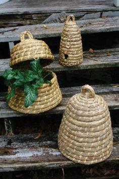 natural bee skep basket.
