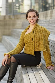 Ravelry: Shawl Sleeves pattern by Linda Marveng Above it is gorgeously worn by dancer Francesca Golfetto, beautifully styled by Line Sekkingstad, and brilliantly photographed by Kim Müller.