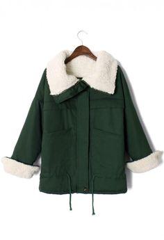 Aviation Oversize Jacket in Olive