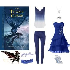 Outfit inspired by 'The Titan's Curse' cover by george-alban on Polyvore