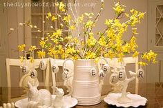adorable Easter table decoration