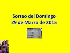 Sorteo Domingo 29 de Marzo de 2015 - Video - Loteria Nacional de Panamá