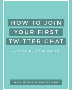 Twitter Chats are a great way to interact with bloggers across the country, but do you know exactly how they work? Us either! Meredith Noelle is sharing tips, tricks, and ways to make the most out of the next Twitter Chat you're wanting to take part in – we definitely learned a few things, and we know you will too! 11/10/15  http://theblogsocieties.com/how-to-join-your-first-twitter-chat/