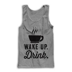 Wake Up #Drink by AwesomeBestFriendsTs on Etsy