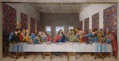 The Last Supper (digital restoration) / L'Ultima Cena / La Última Cena (restauración digital) // 1495-1498 // Leonardo da Vinci // Fresco / Church and Dominican convent Santa Maria delle Grazie, Milan // #Jesus #Christ #Eucharist