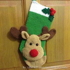 Reindeer Christmas Stocking Pattern