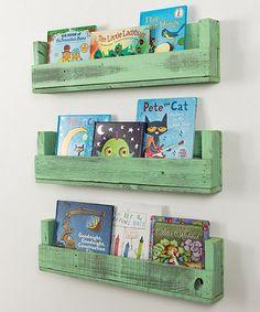 Loving this Sweet Mint Shabby-Chic Bookshelf - Set of Three on #zulily! #zulilyfinds