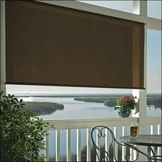 Outdoor Blinds - Outdoor Roll Up Shades - Patio Solar Shades Balcony Blinds, Balcony Shade, Blinds For Windows, Outdoor Blinds, Outdoor Shade, Solar Shades, Sun Shades, Exterior Shades, Best Blinds