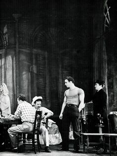 Marlon Brando in the original stage production of A Streetcar Named Desire (1947)