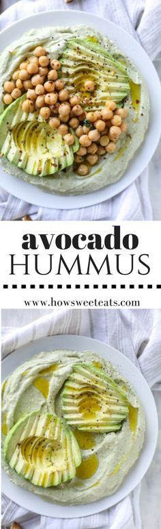 Avocado Hummus I howsweeteats.com @howsweeteats
