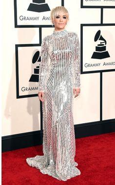 Rita Ora on the Grammys Red Carpet
