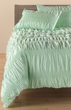 Nordstrom at Home 'Isabella' Duvet Cover. Perfectly paired with rustic wood for a country chic room.