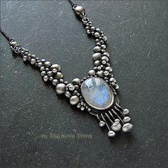 Струкова Елена - авторские украшения - Лунное ожерелье