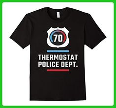 Mens Thermostat Police Department Sarcastic Witty Humor T-Shirt 2XL Black - Relatives and family shirts (*Amazon Partner-Link)