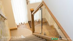 When space is at a premium, a single newel and cleverly angled diminishing glass allows the balustrade to finish against the ceiling. Small Staircase, Traditional Staircase, Glass Balustrade, Newel Posts, Hallway Decorating, Stairs, Ceiling, Staircases, Space