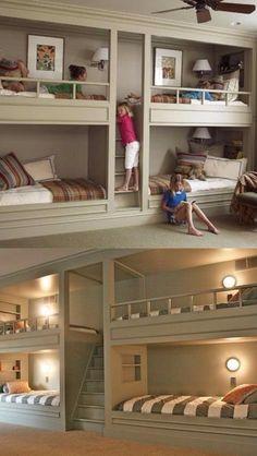 Inbuilt kid's bunk beds