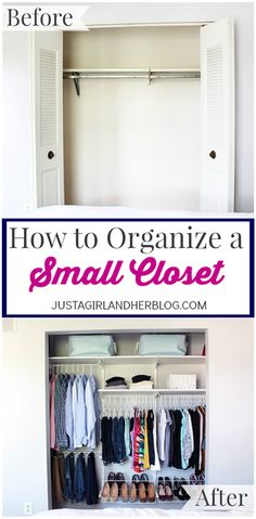 DIY Closet Organization Ideas for Messy Closets and Small Spaces. Organizing Hacks and Homemade Shelving And Storage Tips for Garage, Pantry, Bedroom., Clothes and Kitchen | How to Organize a Small Closet | http://diyjoy.com/diy-closet-organization-ideas