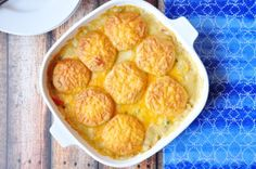 Creamed Chicken & Biscuits Casserole