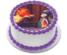 Zootopia 5 Edible Birthday Cake Topper