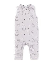Kira Kids Miffy Print Jumpsuit Light Grey