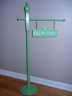 Sesame street inspired street sign - personalized - birthday/room decor - photo prop. $49.99, via Etsy.