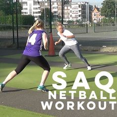 We& teamed up with SportsFit to bring you ANOTHER great netball workout. This one& to improve your netball SAQ (or speed, agility and quickness). Netball Coach, Tennis Techniques, Tennis Rules, Running Drills, Tennis Workout, Basketball Photography, Best Football Players, Soccer Tips, Rugby League