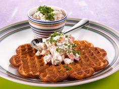 Kinkkutäyte Waffles, Breakfast, Food, Morning Coffee, Essen, Waffle, Meals, Yemek, Eten
