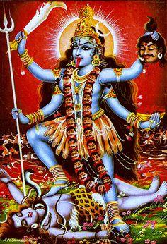 Kali Ma- Hindu goddess of Death Divine Goddess, Kali Goddess, Mother Goddess, Mother Kali, Divine Mother, Kali Hindu, Hindu Art, Maa Kali Images, Kali Mata