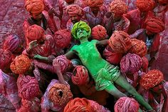 Steve McCurry, Holi Festival, Rajasthan, India, 1996, C-type print of Fuji Crystal Archive paper