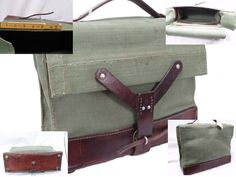 Authentic 1960s Swiss Army Ammo Kit bag. Can be easily modified into the perfect bike panniers.
