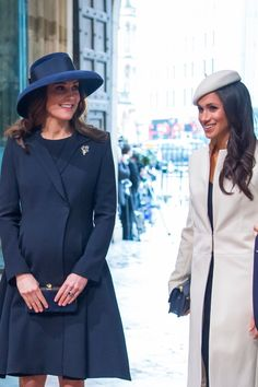 Meghan Markle and Kate Middleton aren't afraid of twinning. The duo already wore matching blue dresses at The Royal Foundation Forum, and now they've been